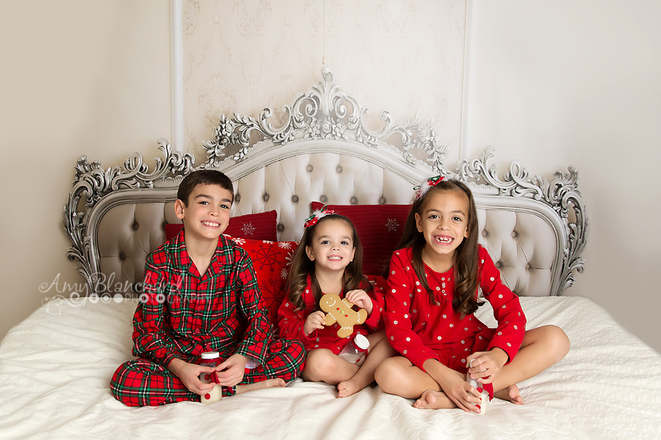 Night Before Christmas Pajama Session Omaha Children